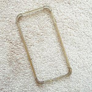 Beige / cream iPhone 6 Plus outer edge bumper case